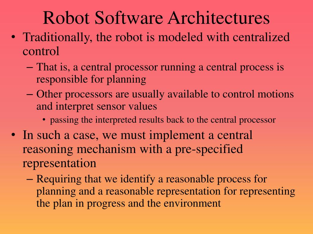 Robot Software Architectures