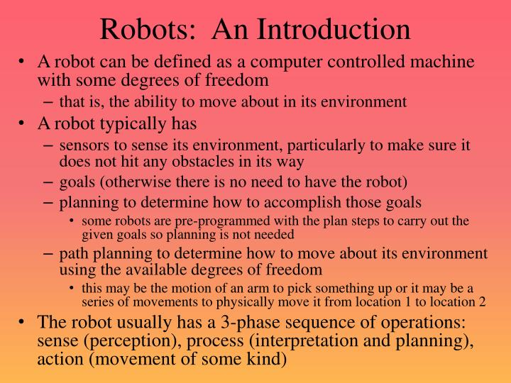 Robots an introduction