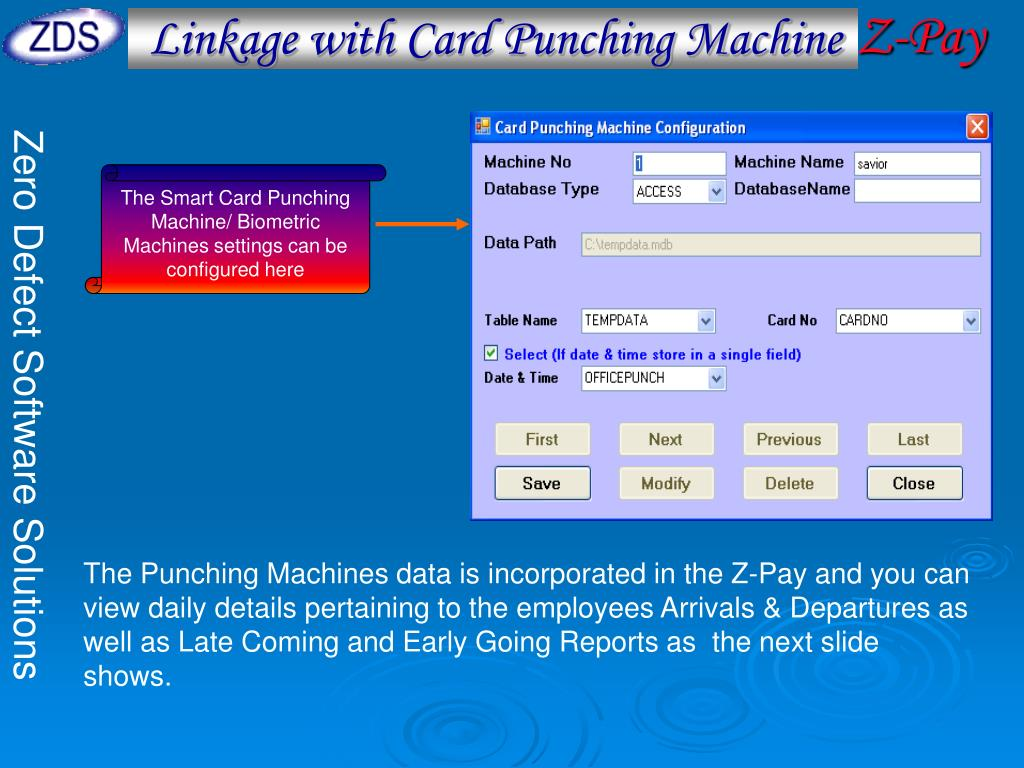 Linkage with Card Punching Machine