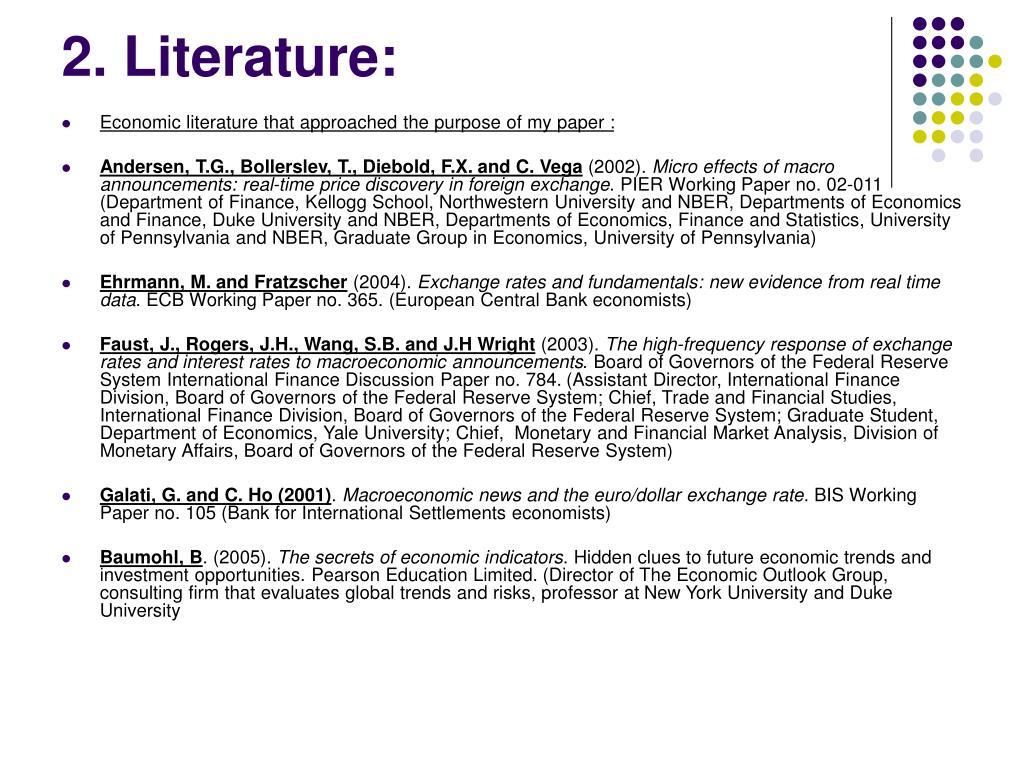 2. Literature: