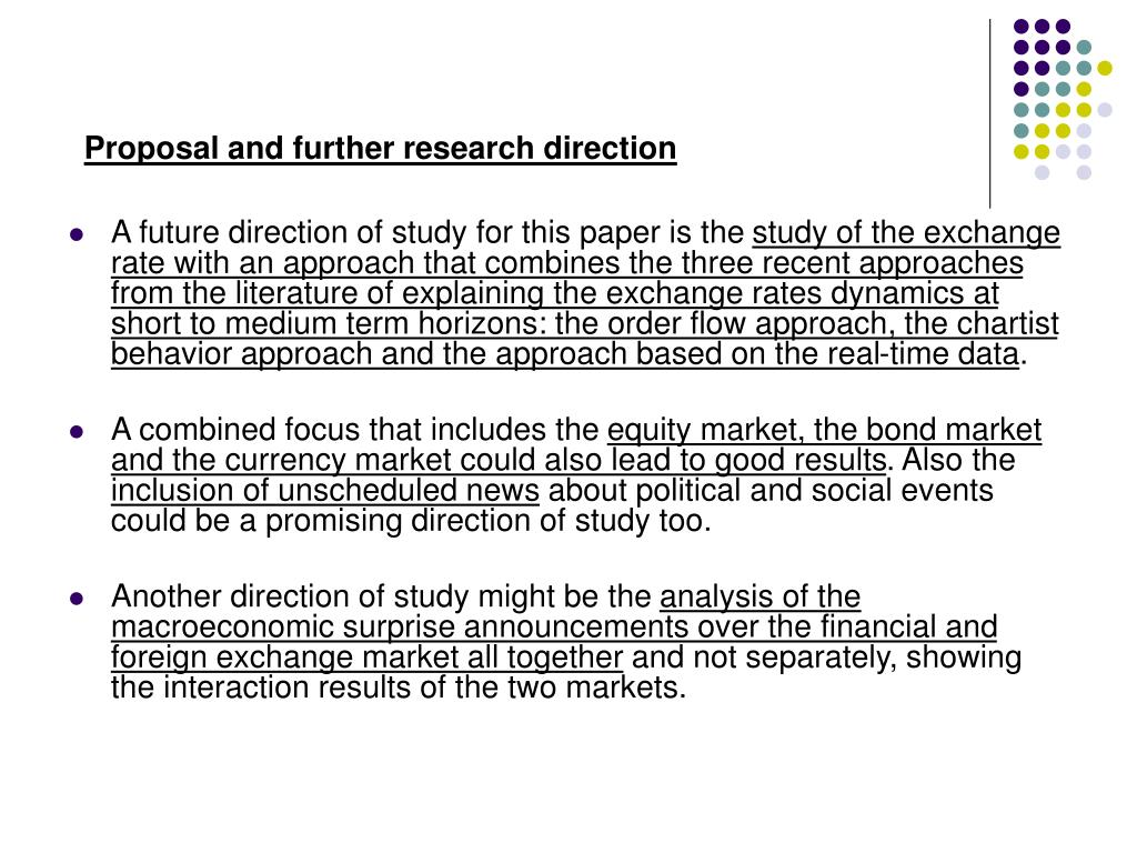 Proposal and further research direction