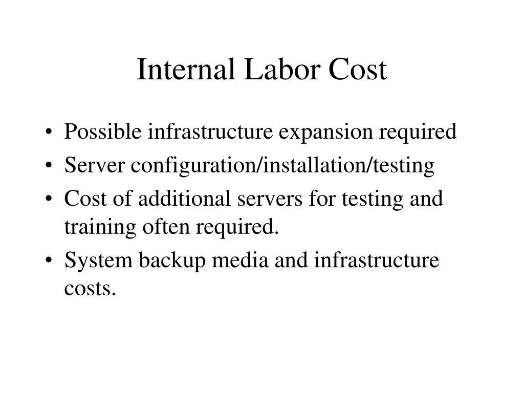 Internal Labor Cost