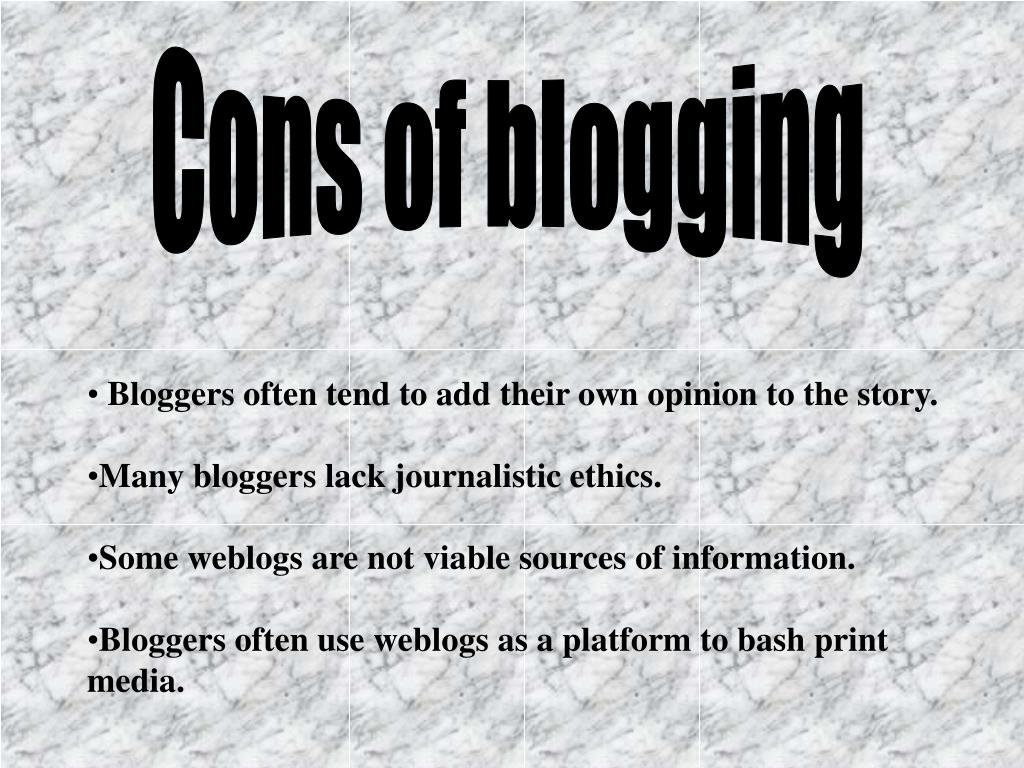 Cons of blogging