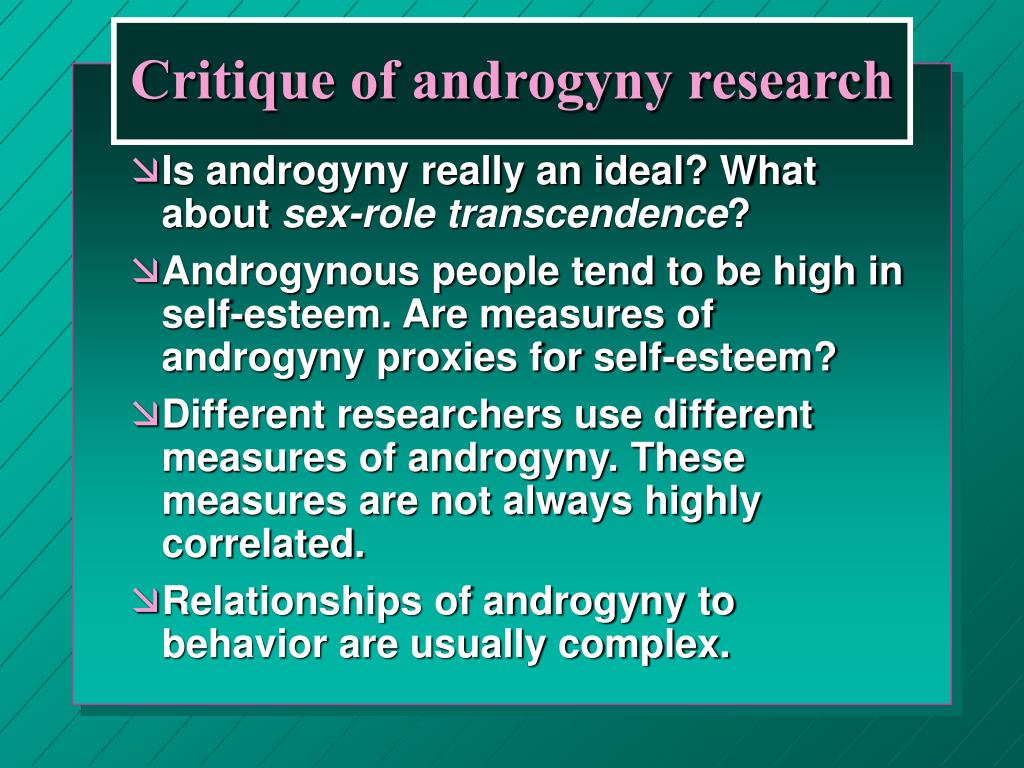 Critique of androgyny research
