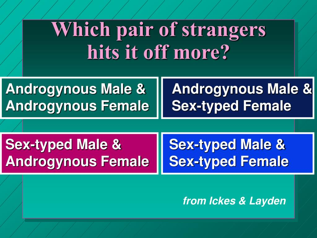 Which pair of strangers hits it off more?