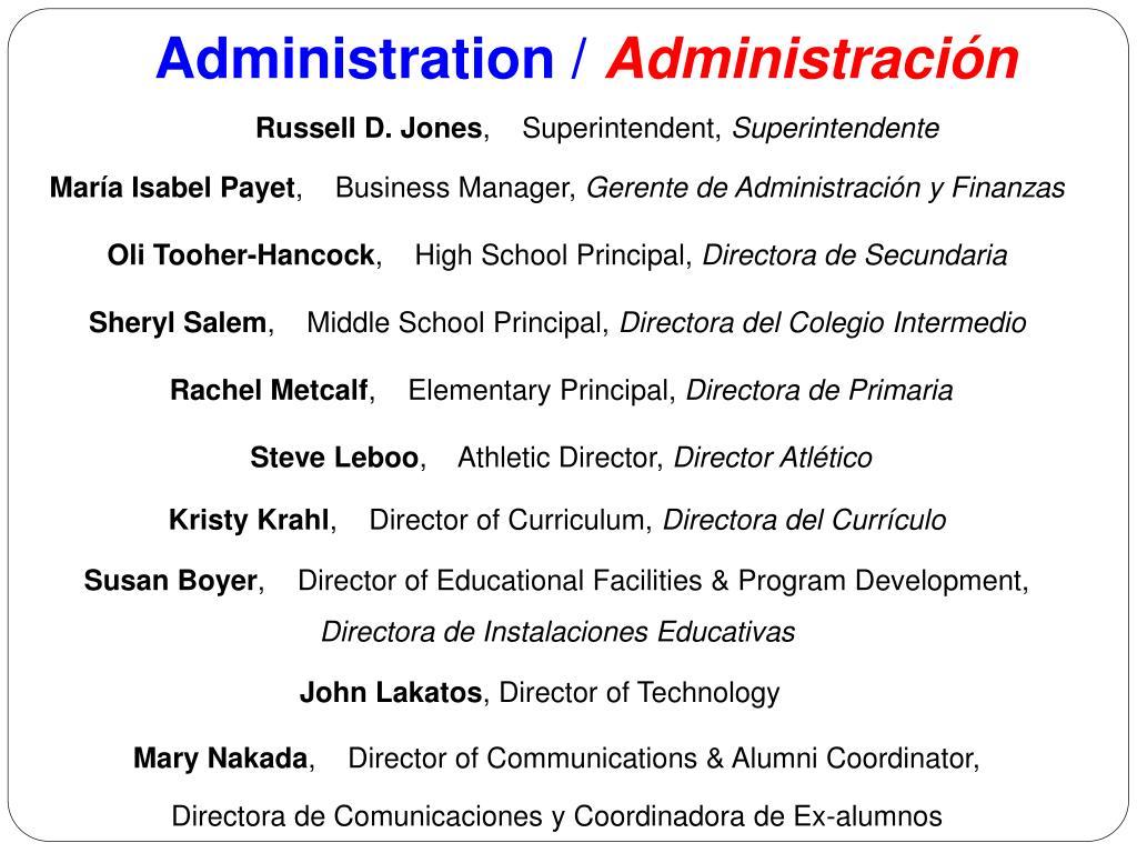 Administration /