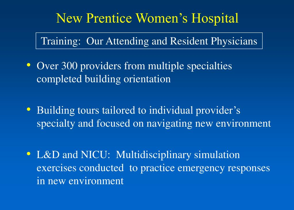 Over 300 providers from multiple specialties completed building orientation