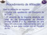 procedimiento de afiliaci n
