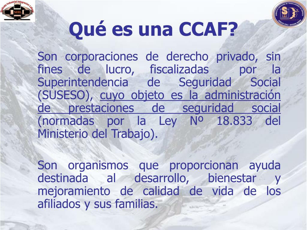 Qué es una CCAF?