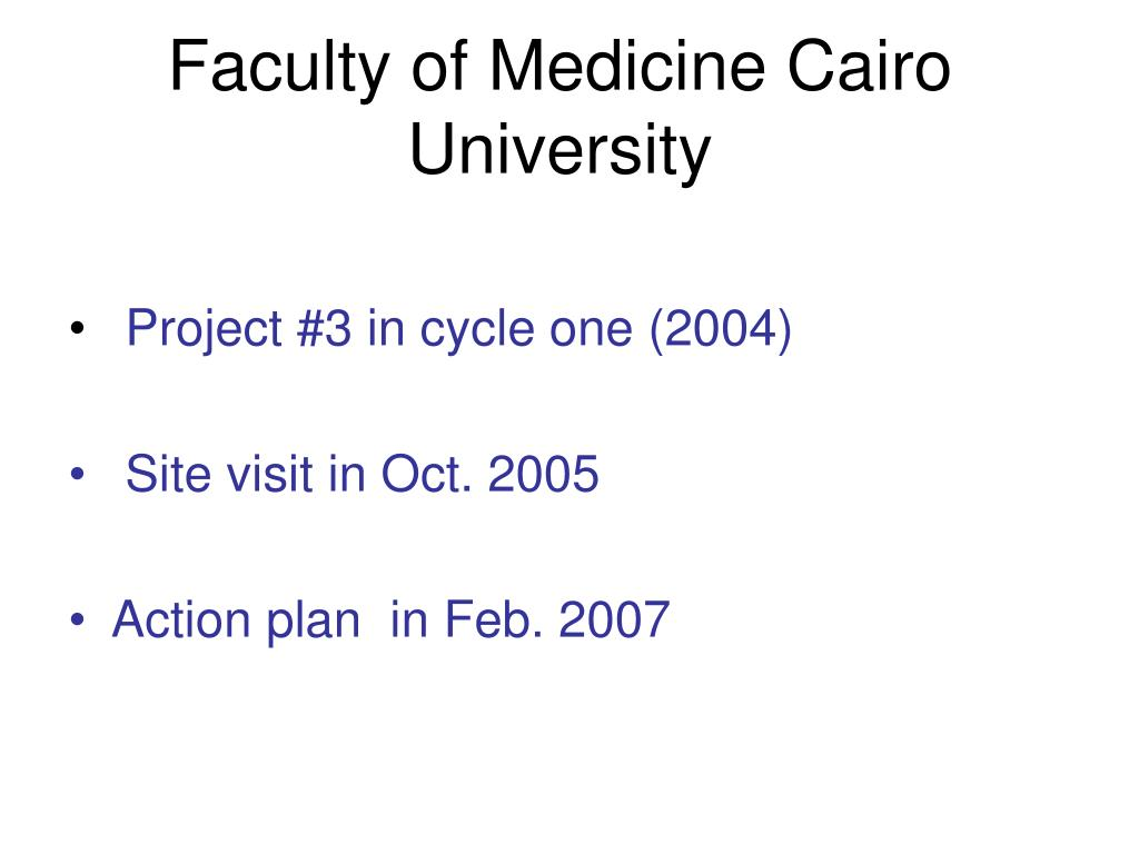 Faculty of Medicine Cairo University