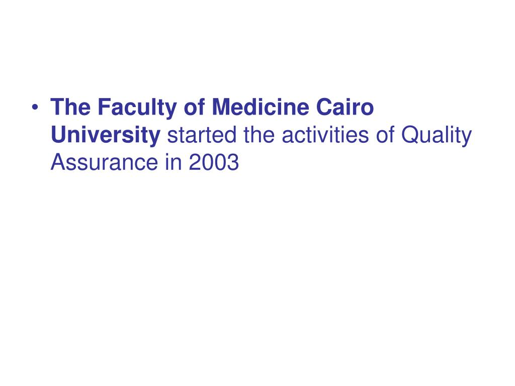 The Faculty of Medicine Cairo University