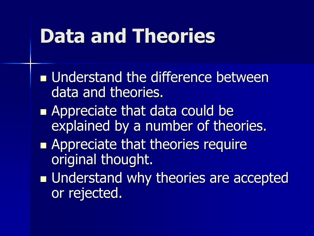 Data and Theories