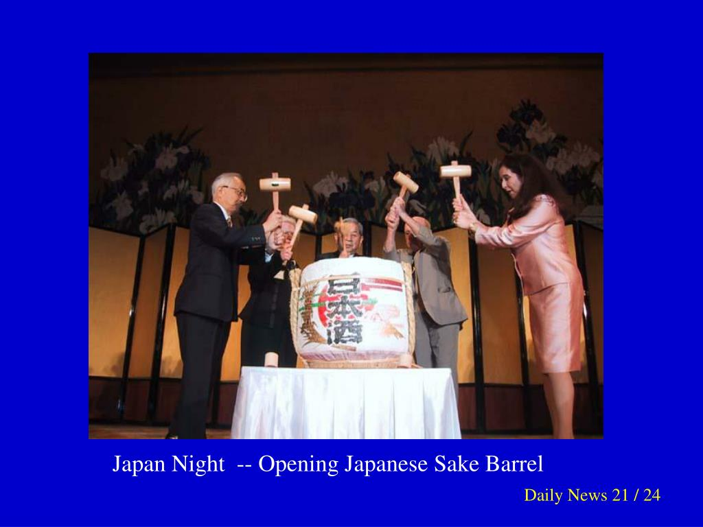 Japan Night  -- Opening Japanese Sake Barrel