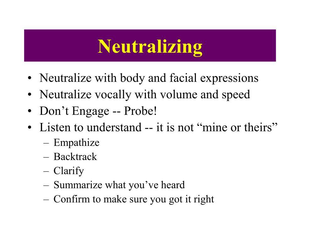 Neutralizing