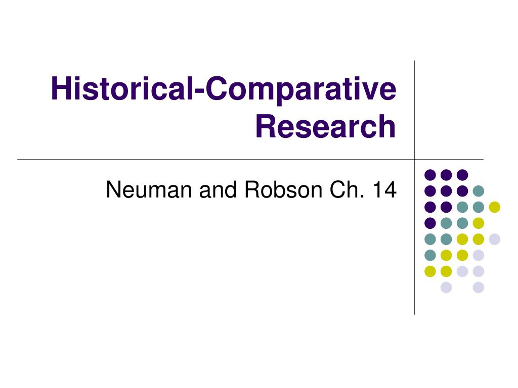 Historical-Comparative Research
