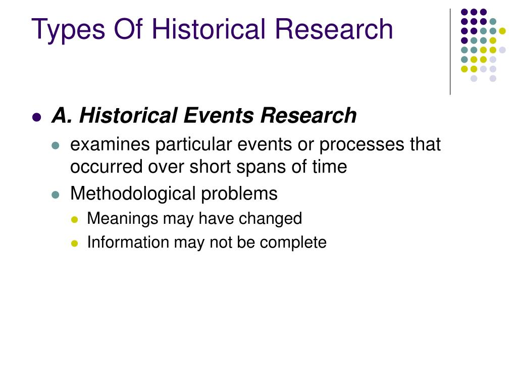 Types Of Historical Research