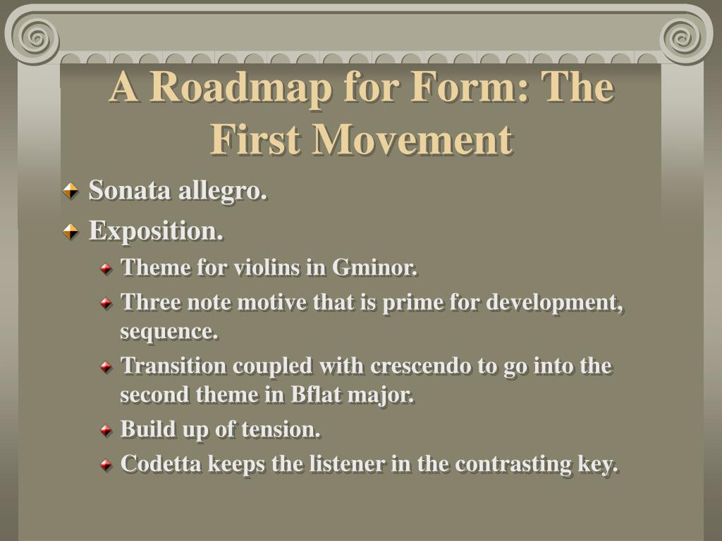 A Roadmap for Form: The First Movement