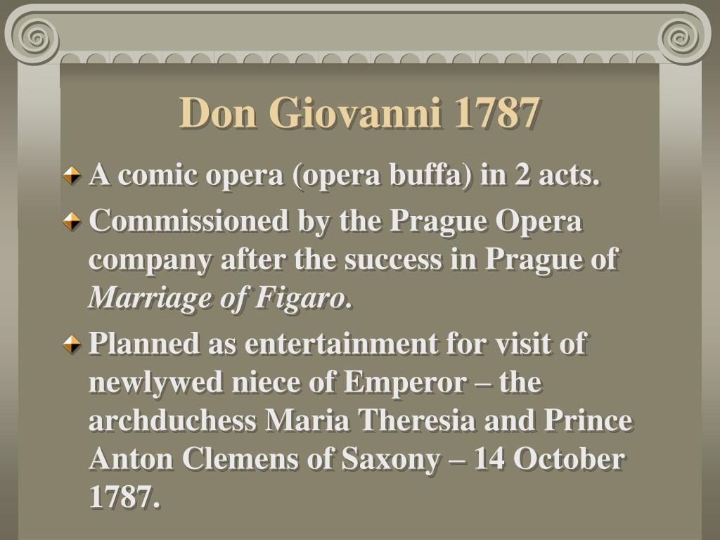 Don Giovanni 1787