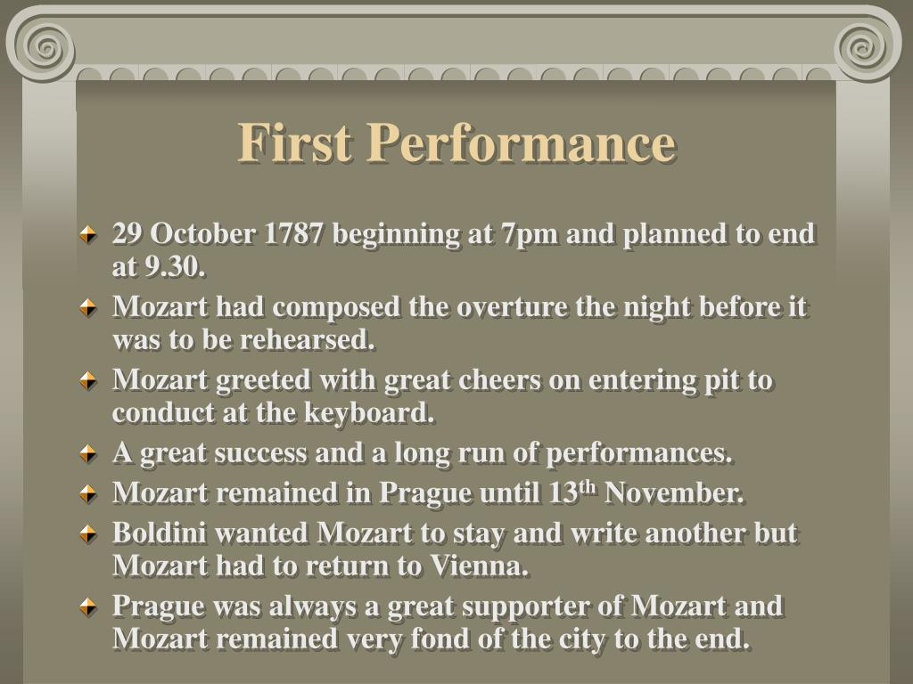 First Performance