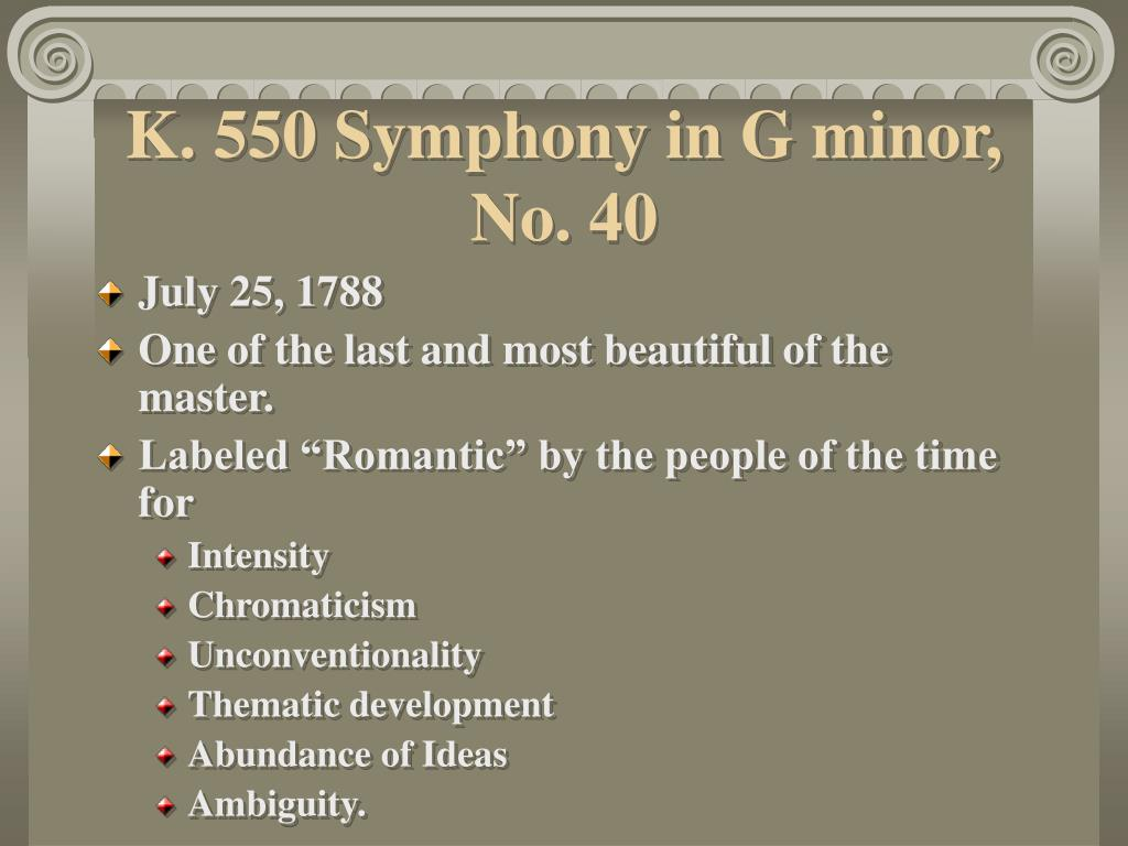 K. 550 Symphony in G minor, No. 40