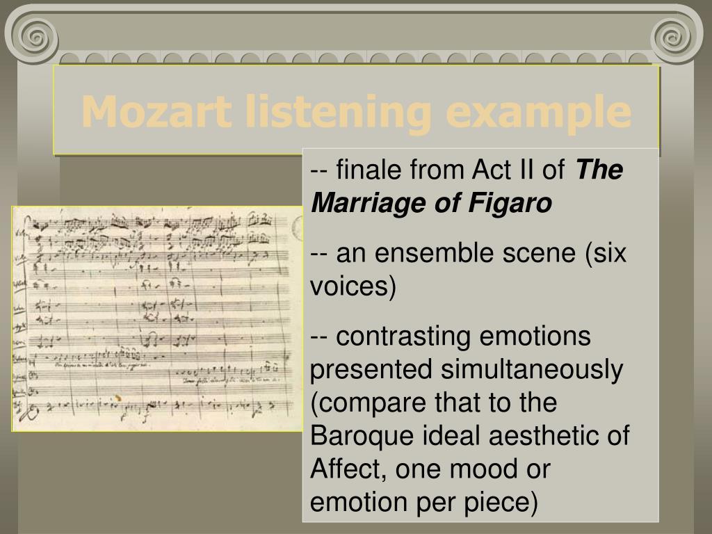 Mozart listening example