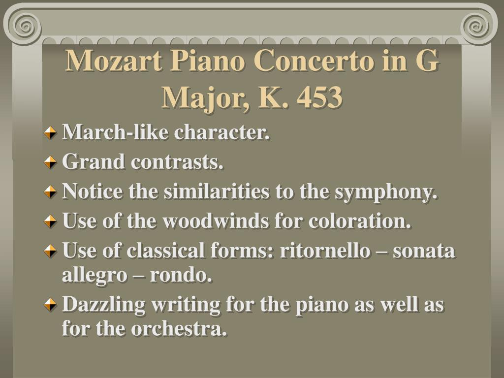 Mozart Piano Concerto in G Major, K. 453