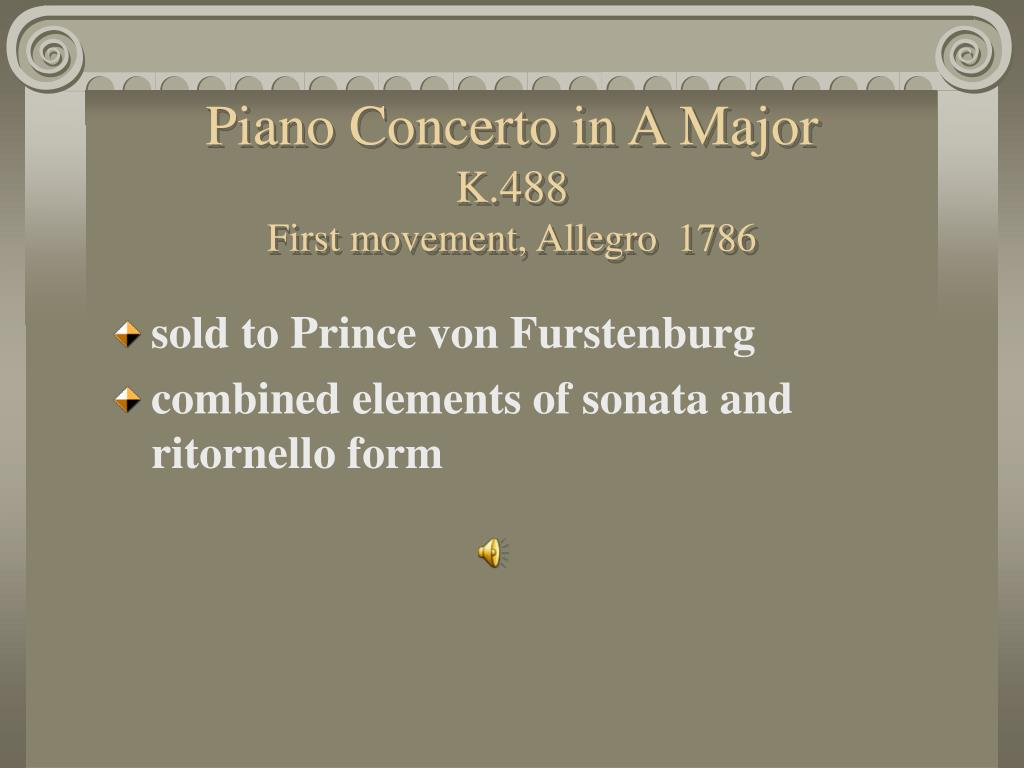 Piano Concerto in A Major