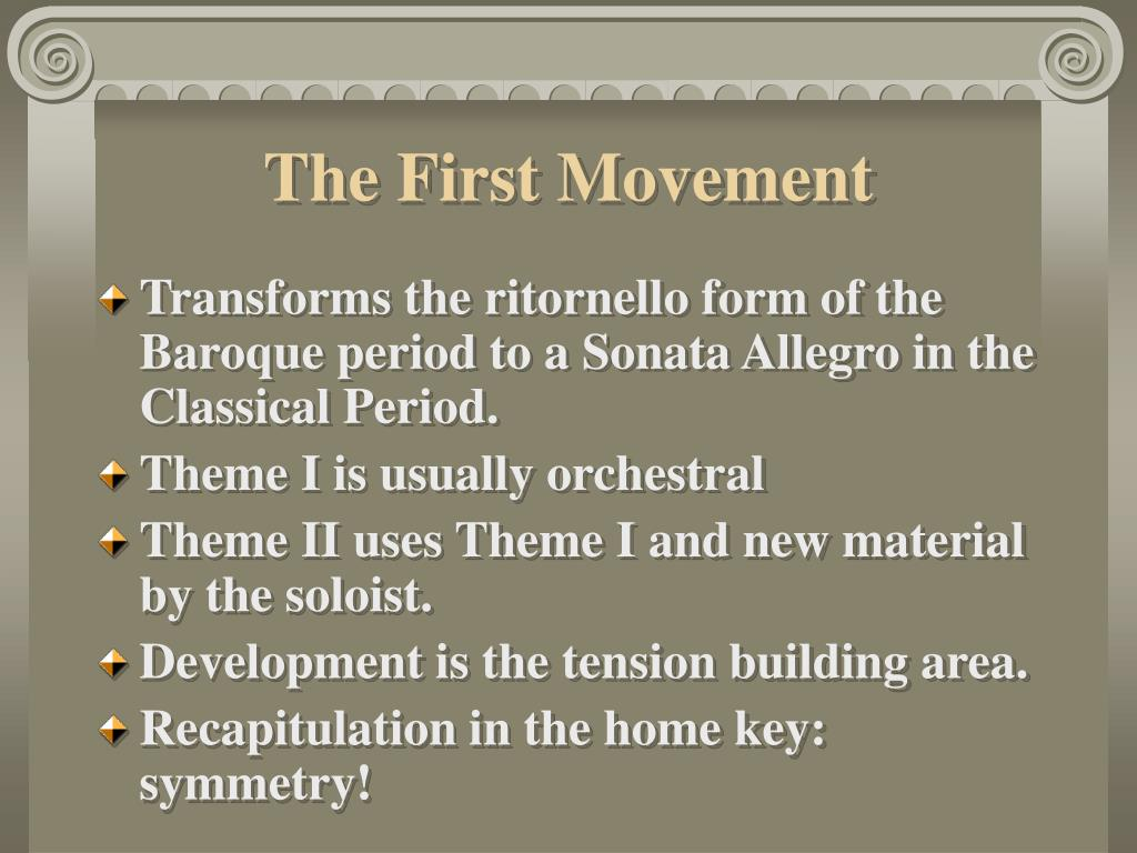 The First Movement