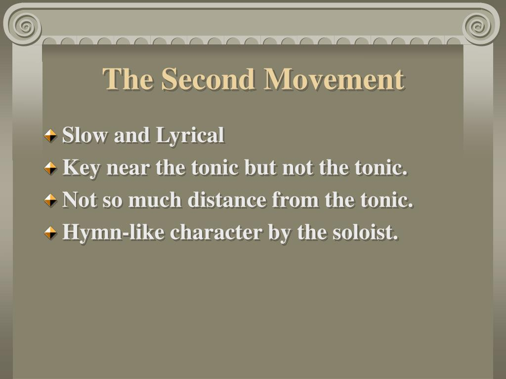The Second Movement