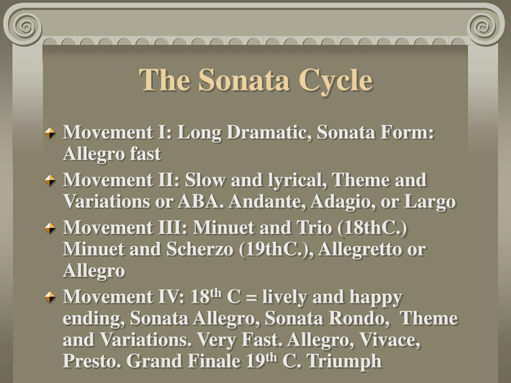 The Sonata Cycle