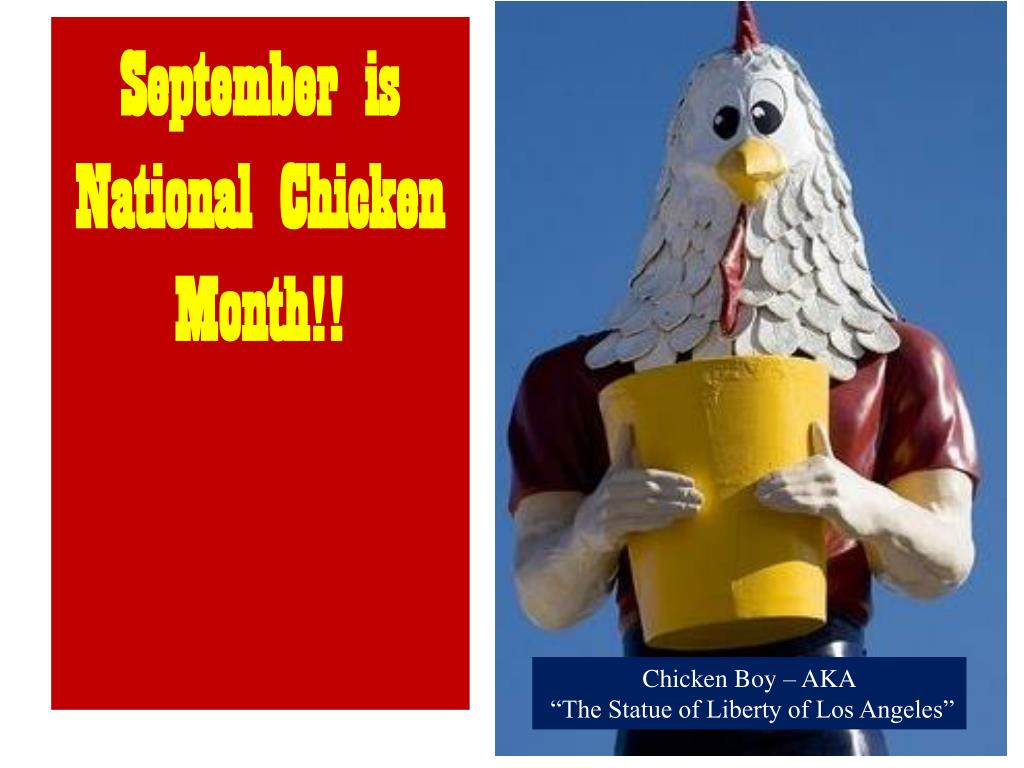 September is National Chicken Month!!