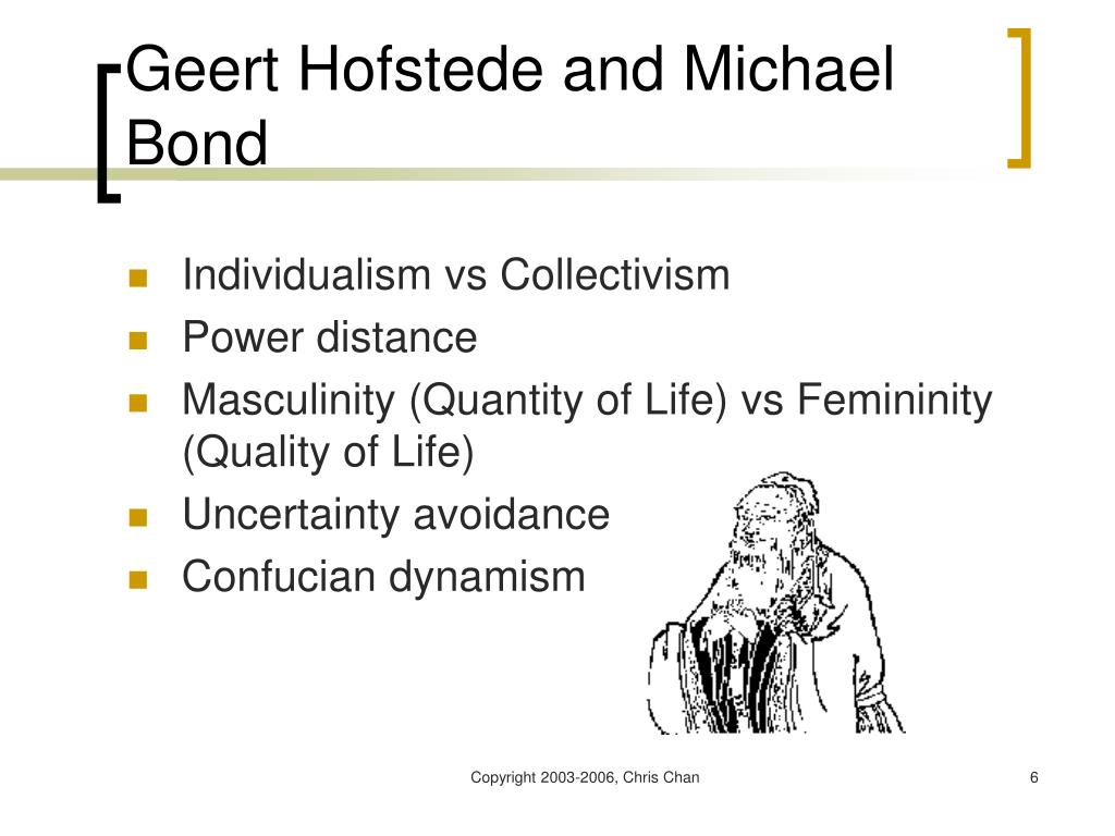 Geert Hofstede and Michael Bond