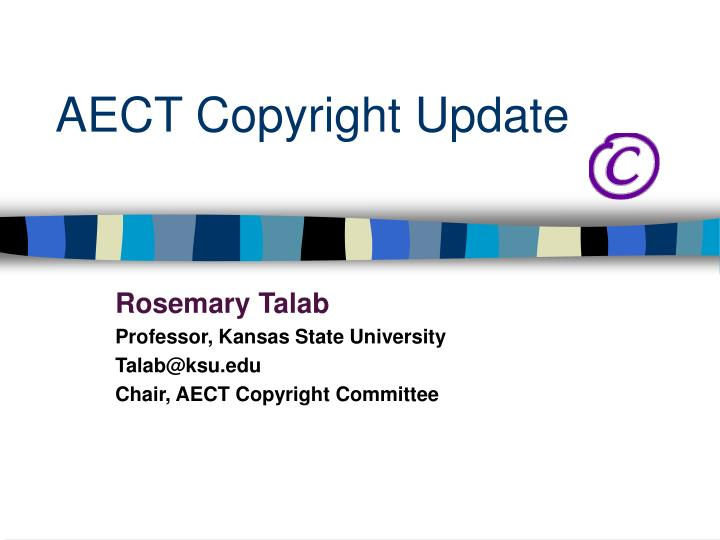 Aect copyright update
