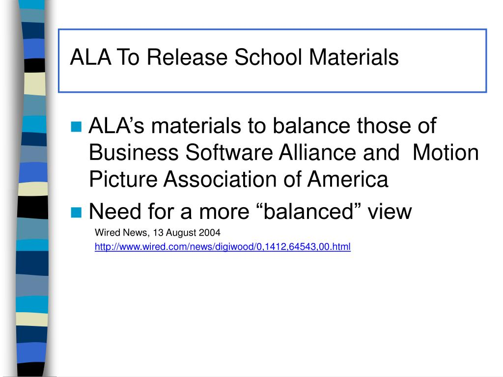 ALA To Release School Materials