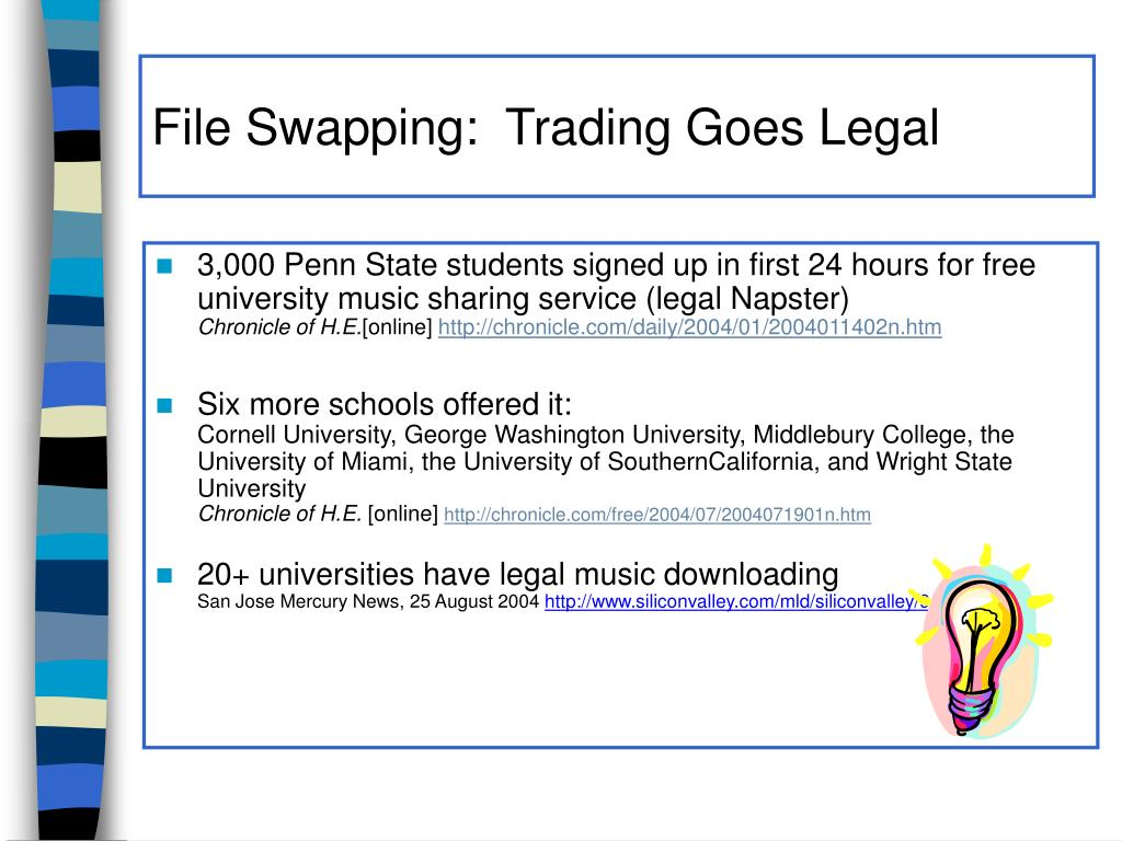 File Swapping:  Trading Goes Legal
