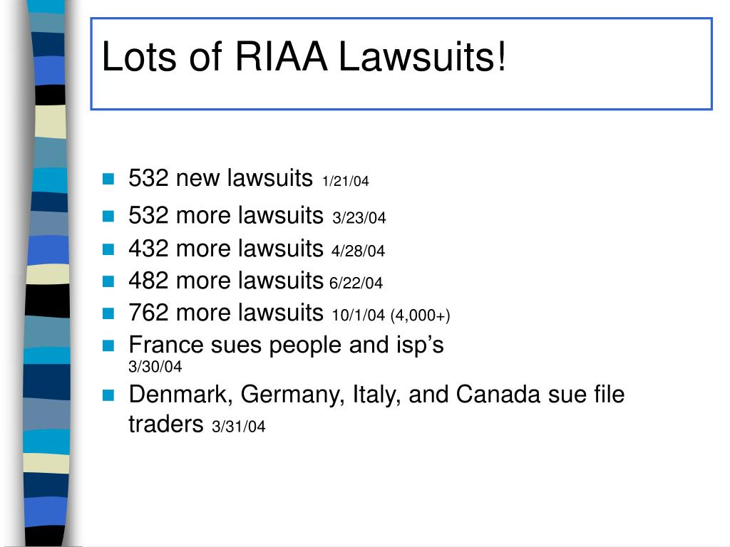 Lots of RIAA Lawsuits!