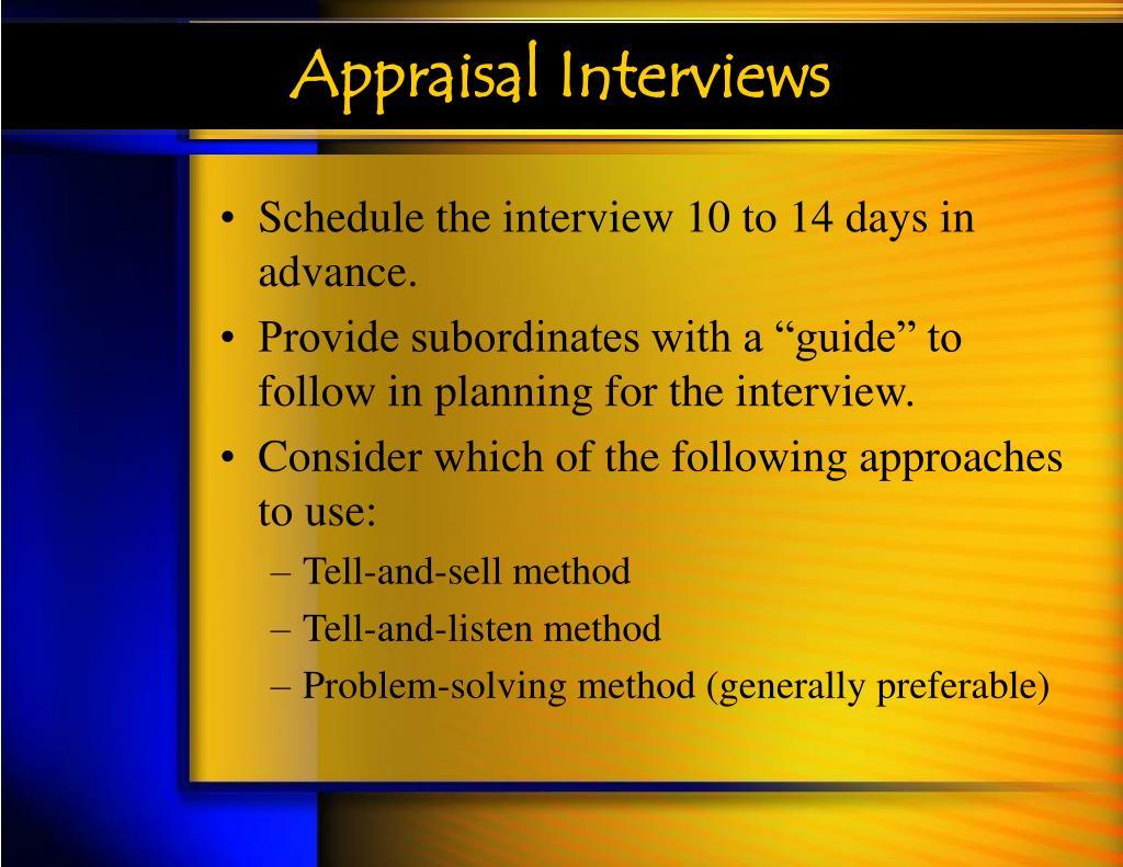Appraisal Interviews