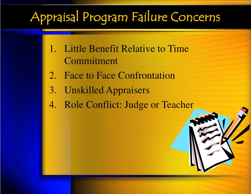 Appraisal Program Failure Concerns