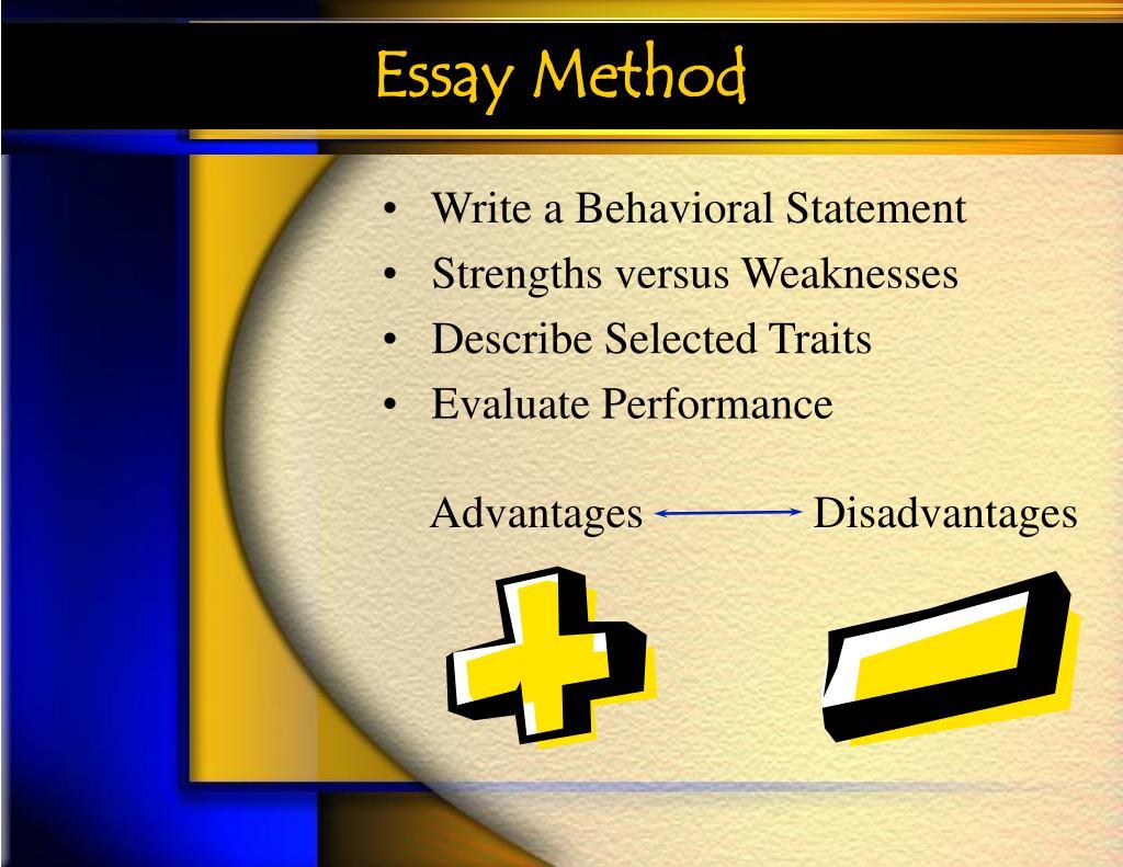 Essay Method