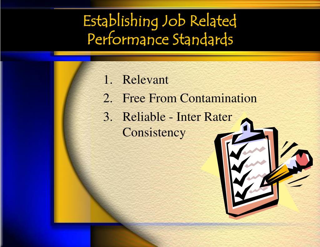 Establishing Job Related