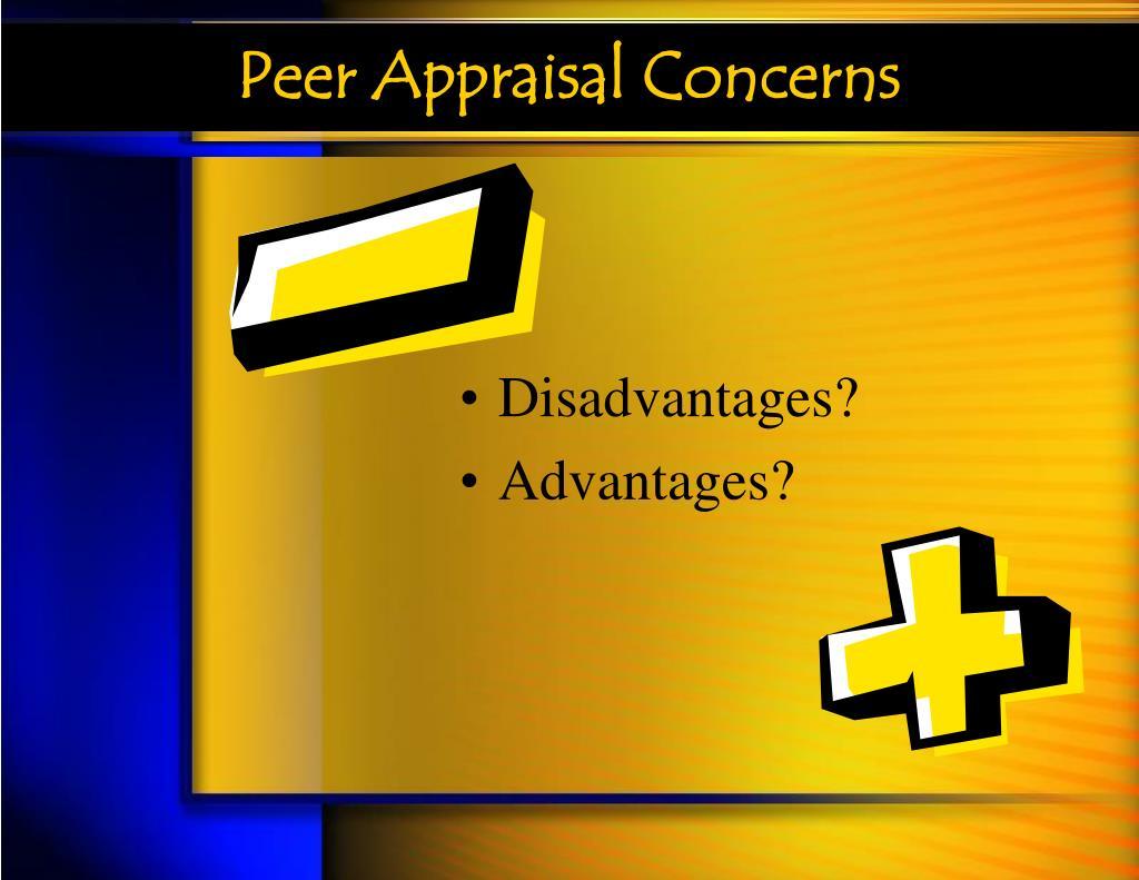 Peer Appraisal Concerns