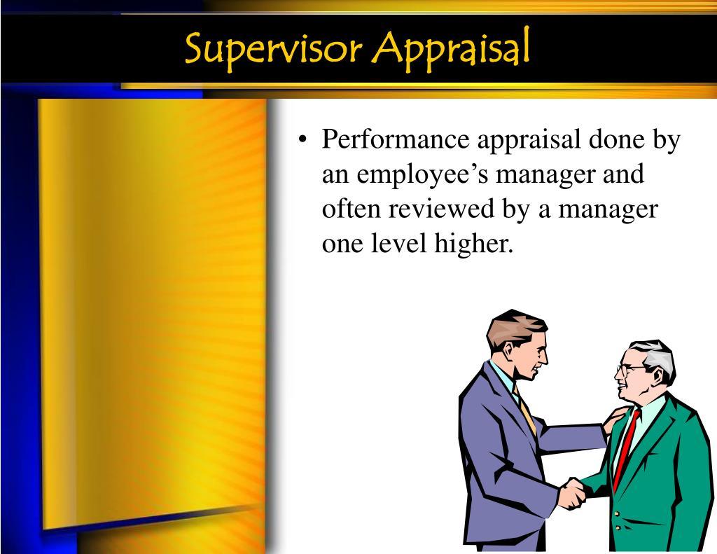 Supervisor Appraisal