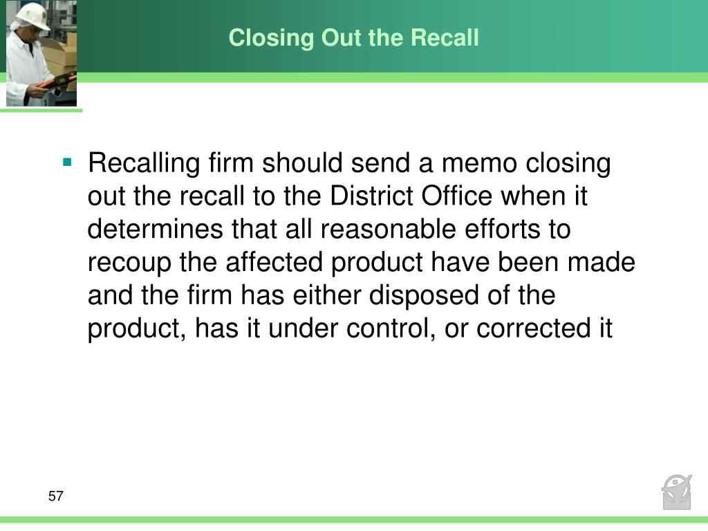 Closing Out the Recall