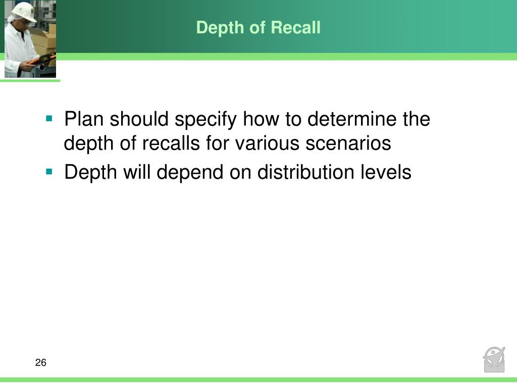 Depth of Recall