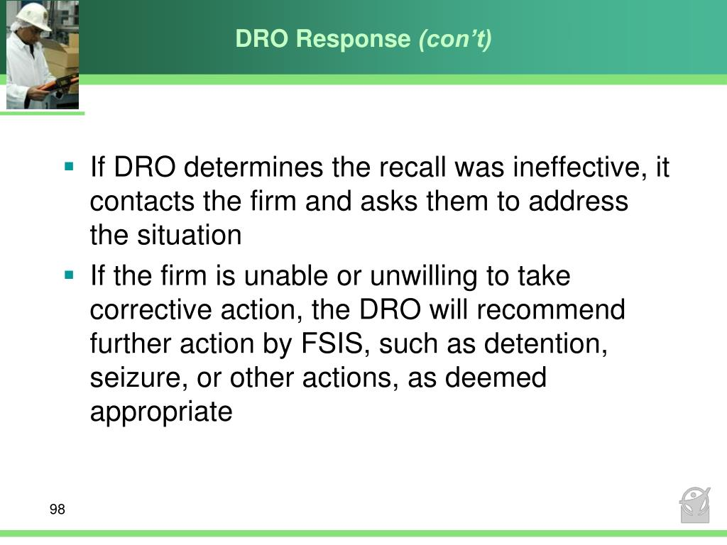 DRO Response