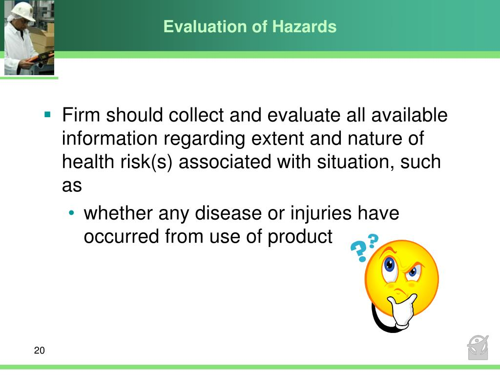 Evaluation of Hazards