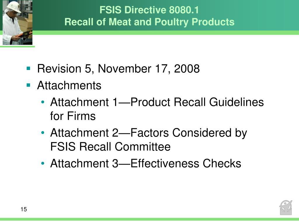 FSIS Directive 8080.1
