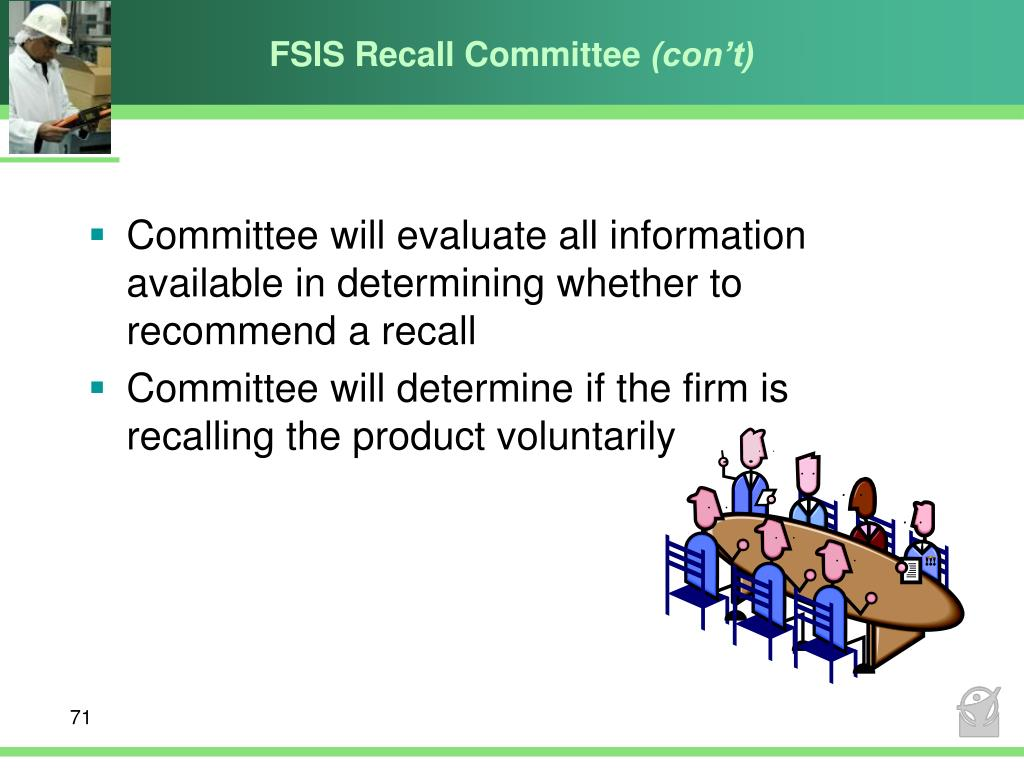 FSIS Recall Committee