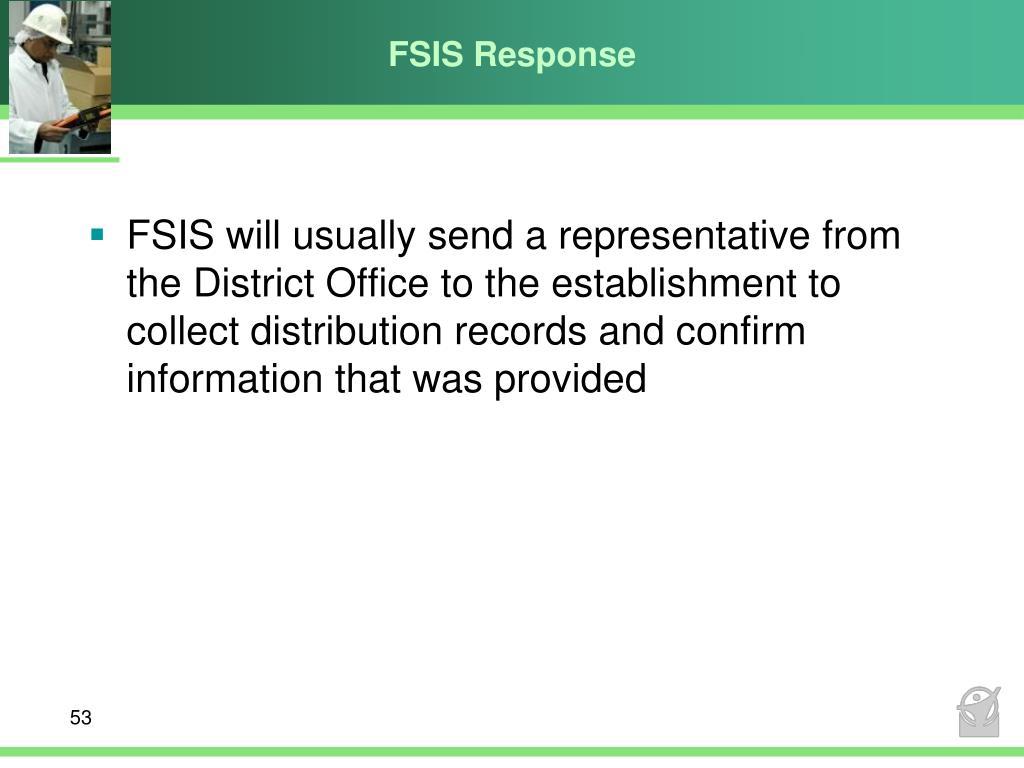 FSIS Response