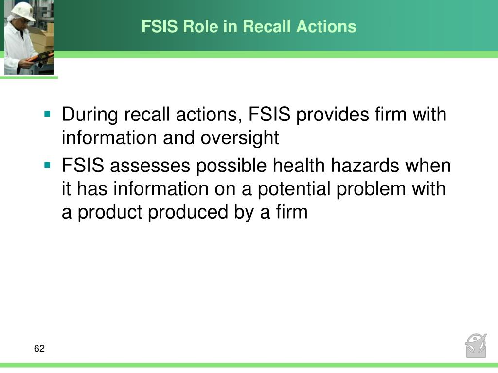 FSIS Role in Recall Actions